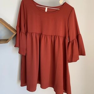 Tops - Red Lolly Flowy Shirt